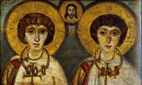 Икона Мученики Сергий и Вакх. VI-VII вв.