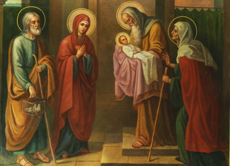 Богомладенец Иисус в храме Иерусалимском